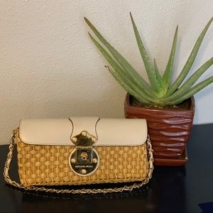 Michael Kors Straw Clutch with Strap